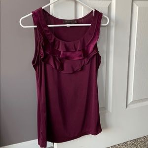 The Limited Ruffle neckline tank